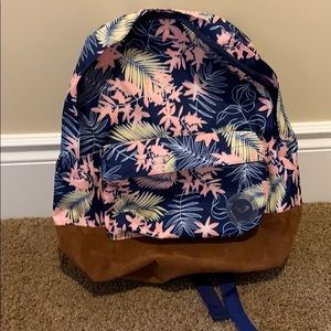Roxy leaves backpack bnwt sugar river